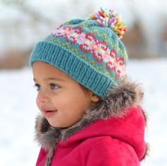fair isle hat.  free pattern and KAL.  kids and adults sizes.