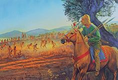 """""""Thermopylae: A persian scout reconnoitres the Greek position"""", Steve Noon"""