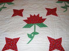 Handmade Vintage Quilt Red Green Christmas by MissPattisAttic