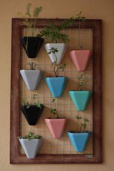 Jardim vertical como objeto de decoração
