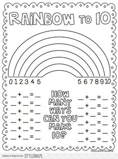 A great worksheet to help kindergarten and first grade students learn about addition!