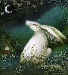 Painting Jade and Moss by Amanda Clark