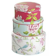 Blooms and Birds Tins
