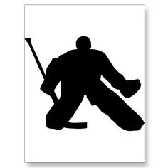 Ice Hockey Goalie Sports Cut Out many uses on centerpieces and sports banquets. This one in black also available painted or detailed. Goalie Stick, Hockey Goalie, Field Hockey, Hockey Players, Blackhawks Jerseys, Chicago Blackhawks, Hockey Centerpieces, Hockey Quotes, Goalie Quotes