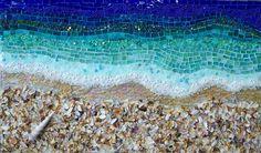 Beach theme backsplash