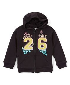 Look what I found on #zulily! Black '26' Hoodie - Toddler & Girls…