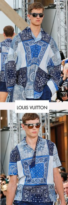 Kim Jones x Louis Vuitton | Bandana scarf print shirts #beachsexy #PMFW