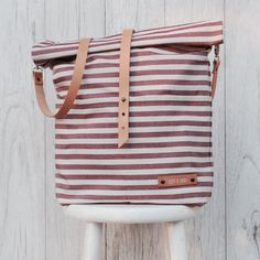 Gestreifte Tasche für den Urlaub, maritime Tasche / perfect travel bag for shopping trips, striped shopper bag made by lütt & lang via DaWanda.com