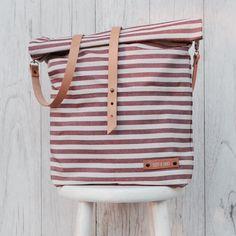 Gestreifte Tasche für den Urlaub, maritime Tasche / perfect travel bag for shopping trips, striped shopper bag made by lütt & lang via DaWanda.com