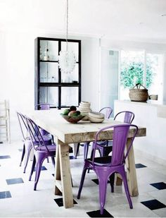 Interior Design Trends 2014 - You've finally decided that it's time for home redecoration but you ran out of ideas. We've got the solution! Here are the home interior design trends for Dining Room Design, Dining Area, Dining Chairs, Dining Table, Dining Rooms, Kitchen Chairs, Kitchen Dining, Nice Kitchen, Trestle Table