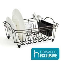 Black Onyx Dishrack - Small - Howards Storage World Draining Board, Howard Storage, Kitchen Paper Towel, Cutlery Holder, Kitchen Benches, Dish Racks, Drip Tray, Paper Towel Holder, Plastic Laundry Basket