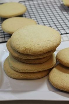 My Grandma's Southern Tea Cakes are light, fluffy, buttery and delicious. These easy to create tea cakes are a real southern treat. Old Fashioned Tea Cakes, Old Fashioned Southern Tea Cake Recipe, Tea Cake Cookies, Cupcakes, Yummy Cookies, Tea Cake Cookie Recipe, Pecan Cookies, Baking Cookies, Chocolate Cookies