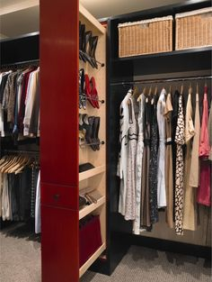 slide-out storage in closet, great space saver!
