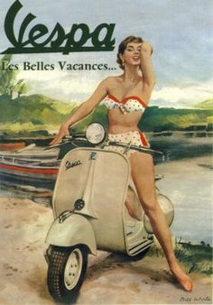 35 Fancy Vintage Posters of Vespa