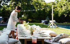 déco de table de fête dans le jardin