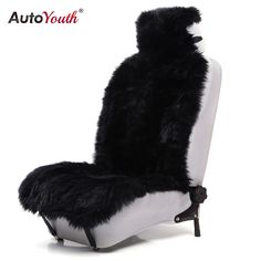 59.99$  Watch now - http://ali5m4.worldwells.pw/go.php?t=32649906371 - AUTOYOUTH Premium Long Wool Luxury Car Seat Cover Universal Fit Most Cars SUV Truck Gray Car Seat Cushions 1 Pcs fur seat cover 59.99$