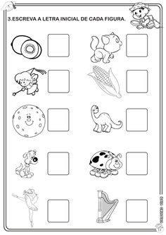 Atividade Avaliativa Educação Infantil Linguagem Teaching Shapes, Letters And Numbers, Lesson Plans, Worksheets, Coloring Books, Alphabet, Bullet Journal, Writing, Reading