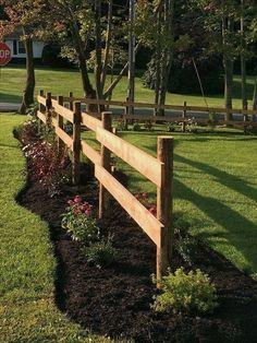 "border 65 trendy garden fence trendy garden fence border ""Springtime"" Poster by Snowchild Front Yard Landscaping Pictures, Outdoor Landscaping, Landscaping Ideas, Acreage Landscaping, Mailbox Landscaping, House Landscape, Landscape Design, Garden Design, Fence Design"
