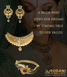 A Bride who lived her dreams by staying true to her values..! Other than looking luxurious and reflecting the power of being a woman, Sogani also makes you feel loved and treasured. That is the real beauty of this timeless bridal jewellery collection by Sogani Jewellers! #Bridal #Jewellery #Wedding #Collection #SoganiJewellers #Jaipur Showroom Sogani Jewellers  C-19, Vaishali Marg, Vaishali Nagar Jaipur. Call- +919799809156, 0141-4024656. Shop Online www.soganijewellers4u.com