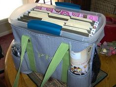 Add a file bin for those papers you need to take home to grade www.mythirtyone.com/shannonhardesty