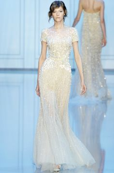 To be honest, I just really want to get married in an Elie Saab dress. If you haven't noticed already. ;)