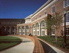 Courtyard- Shelby Hall- University of Alabama Tuscaloosa, AL- Greek Revival