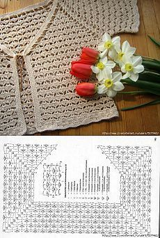 This Pin was discovered by Els Crochet Patterns Lace Crochet Lace Edging for Handtowel ~~ sandragcoatti - Salvabrani Col Crochet, Cardigan Au Crochet, Gilet Crochet, Crochet Vest Pattern, Crochet Diy, Crochet Girls, Crochet Jacket, Crochet Diagram, Crochet Woman