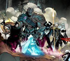 Marvel The Black Order by Pepe Larraz Marvel Villains, Marvel Characters, Marvel Avengers, Black Order Marvel, Comic Character, Character Design, Black Dwarf, Comic Games, Fiction