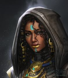 — 影戰士 by Tina Yeh - Black women art - Black Love Art, Black Girl Art, Art Girl, African American Art, African Art, Character Portraits, Character Art, Female Character Concept, Fantasy Character Design
