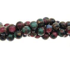 Mosaic Agate 8mm Gemstone Bead Strand
