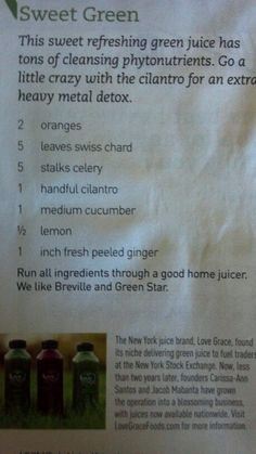 Sweet Green cleansing smoothie