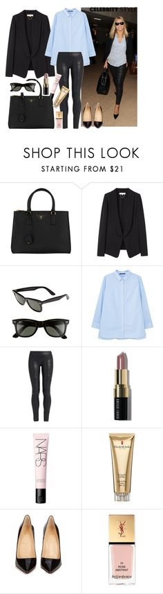 """Mollie king"" by thestyleartisan ❤ liked on Polyvore featuring Prada, Vanessa Bruno, Ray-Ban, MANGO, The Row, Bobbi Brown Cosmetics, NARS Cosmetics, Elizabeth Arden, Christian Louboutin and Yves Saint Laurent"