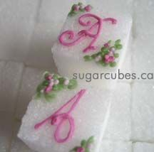 Classic and Elegant Monogrammed Decorated Sugar Cubes