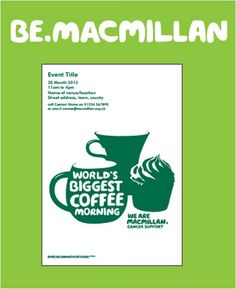 A lovely poster for you to promote your Coffee Morning – just login to… Coffee Mornings, Morning Coffee, Macmillan Coffee Morning, Big Coffee, Cakes, Tea, Poster, Food Cakes, Torte