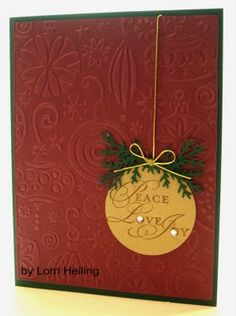 Great use of the embossing folder - Martha Stewart Branch Punch