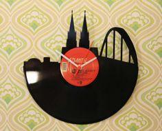 """Schallplatten-Uhr """"Der Dom zu Köln"""""""