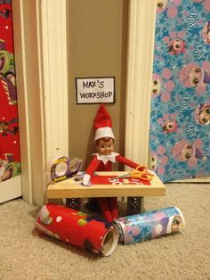 Some people listen to Christmas music, some bake cookies, shop, or watch their favorite movie to get in the holiday mood. For other's it's the Elf Elf Ideas Easy, Awesome Elf On The Shelf Ideas, Elf Ideas For Older Kids, Christmas Elf, All Things Christmas, Christmas Music, Green Christmas, Christmas Carol, Elf Auf Dem Regal