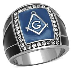 Men's Stainless Steel Clear Crystal Masonic Ring, Size 8,9,10,11,12,13 (8). Material: Stainless Steel, Crystal. Stone Color & Shape : Clear. Item# : MITK161207567. Finish: High polished (no plating). Product Weight: 8.80 (g).