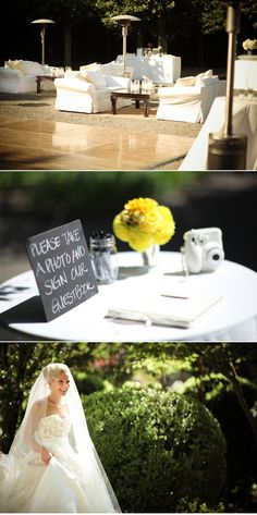 Have camera next to guest book for guests to take fun photos of themselves - awesome idea!