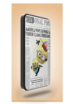 funny newspaper minions attack on iPhone 5 Case by mystylecase, $15.00