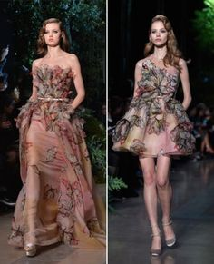 Walking on Air: Valentino's Spring 2015 Couture Creations Are Beyond Dreamy - Nostalgic Tulips at Elie Saab Couture from #InStyle