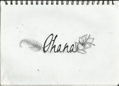 ohana tattoo with flower - Google Search