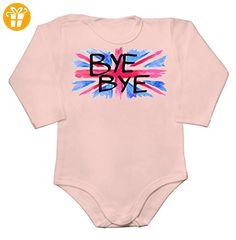 BYE BYE UK BREXIT Baby Long Sleeve Romper Bodysuit Large - Baby bodys baby einteiler baby stampler (*Partner-Link)