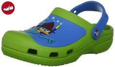 Baya Summer Slide, Unisex - Kinder Sandalen, Lime Green, EU 22-24 (UK C6-7) Crocs