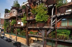 This treehouse found in an urban Italian setting is made with 150 trees and absorbs enough carbon dioxide to clear the air and reduce noise.