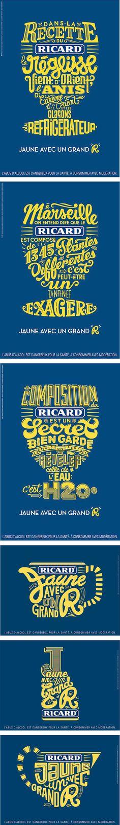 Ricard by BETC - Révéler un objet (ou autres) avec la typographie