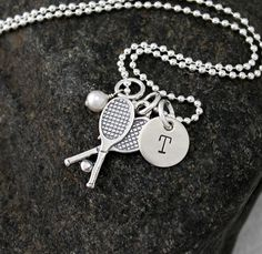 Tennis Necklace   Sterling Silver by GracieAndMeDesign on Etsy, $39.00