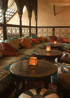 33 Lovely Moroccan Living Room Design Ideas To Try In 2020 - Decorating a home offers many different possibilities. When you decide to change the decor you already have and substitute it for something else, ther. Moroccan Decor Living Room, Morrocan Decor, Moroccan Room, Moroccan Interiors, Moroccan Lounge, Moroccan Lanterns, Dark Interiors, Style At Home, Patio Design