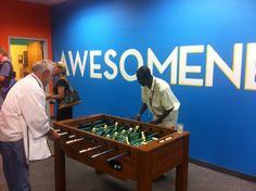 Footers Catering facility tour - Foosball and Awesomeness