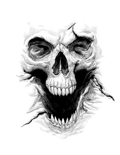 Skull Drawing – 75 Picture Ideas – Drawing Ideas and Tutorials Skull Tattoo Design, Skull Design, Skull Tattoos, Body Art Tattoos, Tattoo Designs, Tattoo Sketches, Tattoo Drawings, Drawing Sketches, Bruder Tattoo